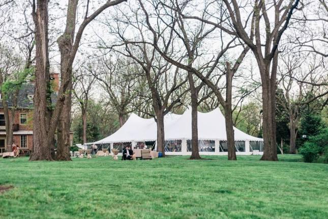 Dover Rent All Tent for garter bride