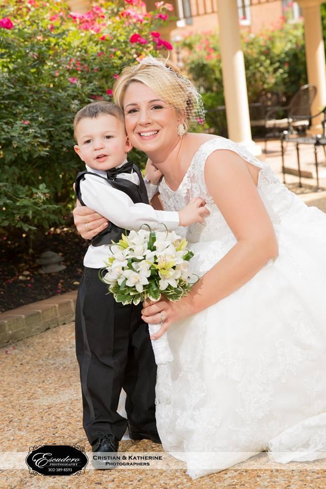 Escudero Hilton Christiana ring bearer and bride