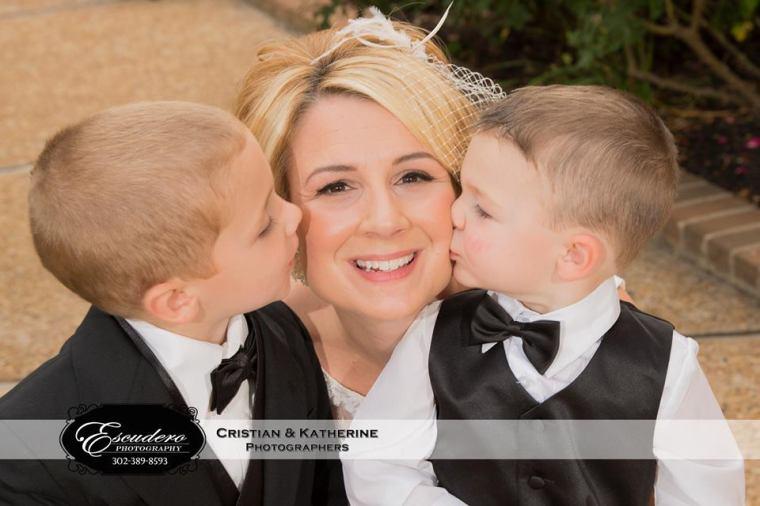 Escudero Hilton Christiana two boys and bride