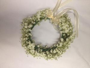 Belak bridal flower girl head wreath