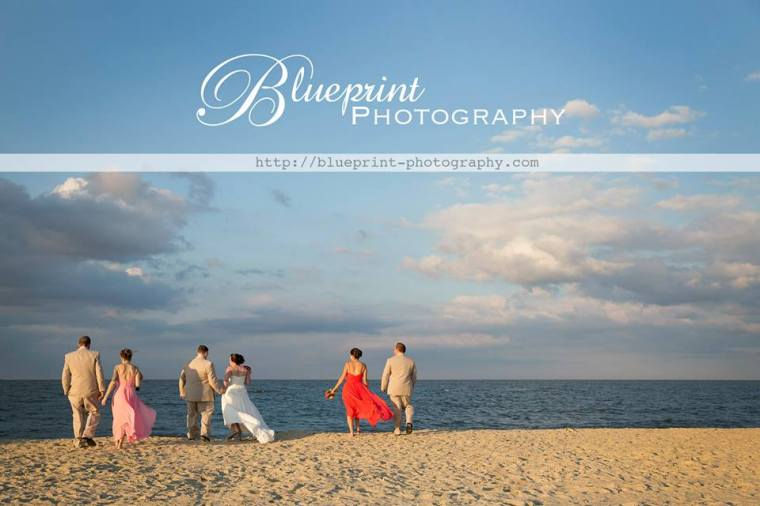 Blueprint Lewes Yacht bridal party on beach