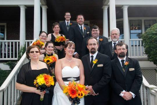 Melony wedding bridal party