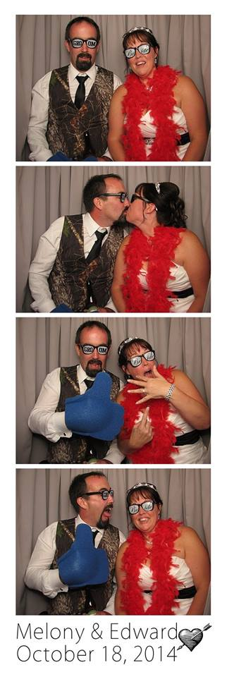 Melony wedding photo booth picture