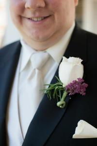 Kathy Champ Photography groom lapel