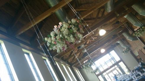 Flower Diva Wow wedding ceiling piece 2