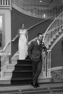 linton mendenhall stairs bride groom