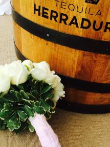 Dover and elevee nautical wedding bouquet and barrel