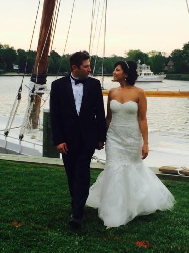 Dover and elevee nautical wedding bride groom