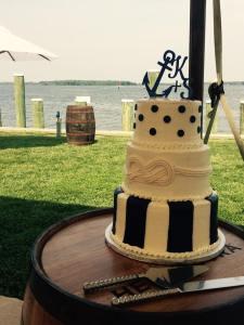 Dover and elevee nautical wedding cake 2