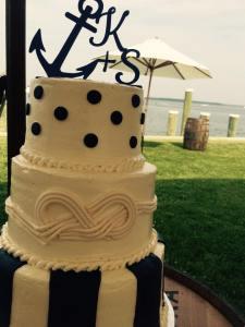 Dover and elevee nautical wedding cake