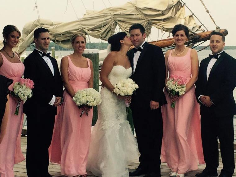 Dover and elevee nautical wedding party and ship