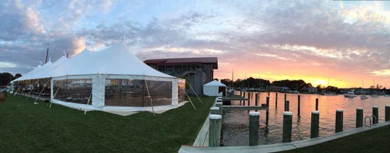 Dover and elevee nautical wedding tent
