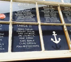 Dover and elevee nautical wedding window table chart