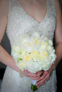 Kerry Harrison dress and flowers