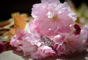 Kerry Harrison rockwood pink fowers and ring