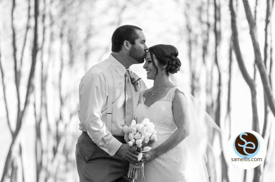 Nassau purple and white sam elllis bride groom bw