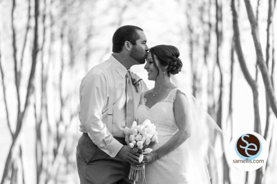 Nassau purple and white sam elllis bride groom bw