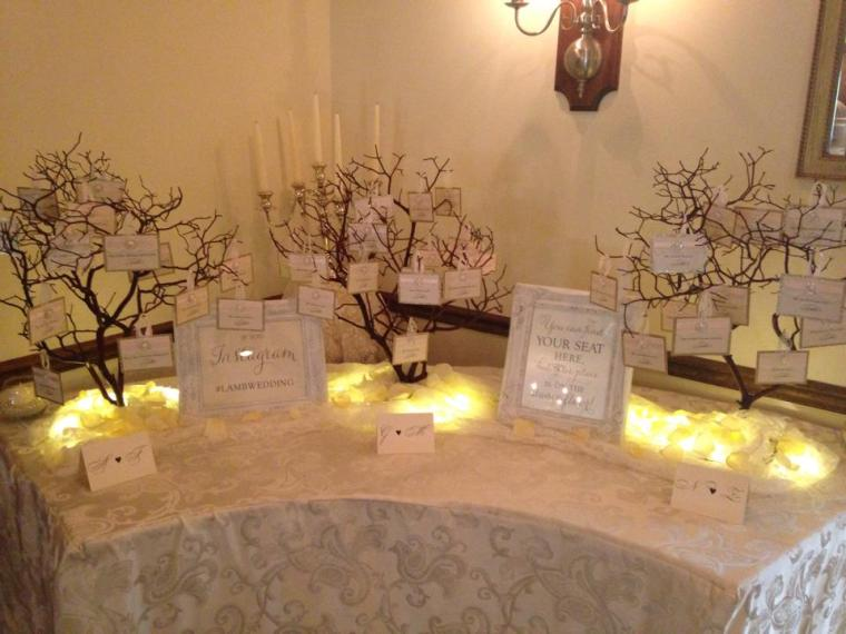 The Farmhouse wedding tiny trees