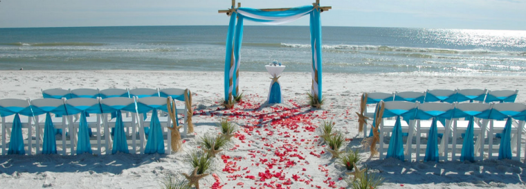 Bethany Ocean Suites beach wedding photo