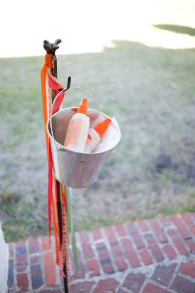 Seven summer wedding ideas to keep your guest cool morning cup bug spray and suncreen for wedding bug spray station at wedding summer wedding ideas wedding party junglespirit Gallery