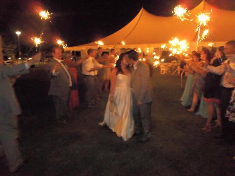 Dover Rent ferry bride groom fireworks