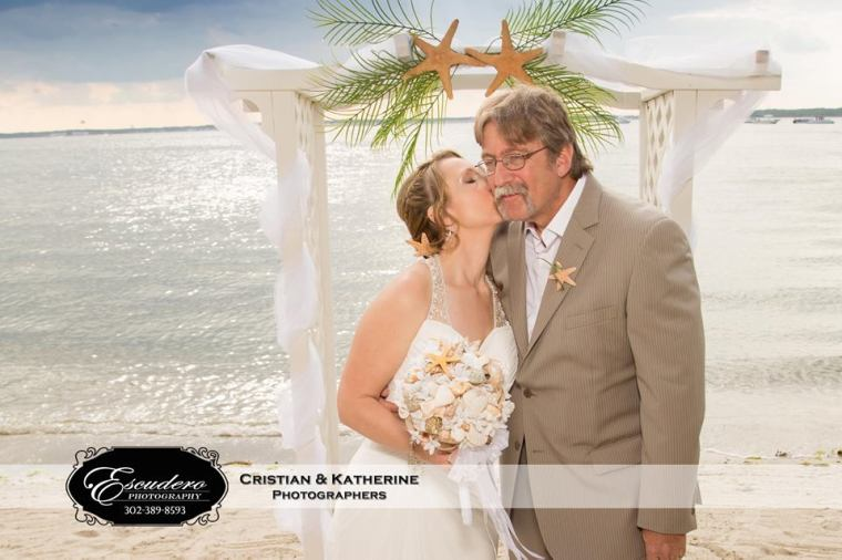 Escudero Photography father and bride on the beach