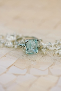 sky blue and mint ring