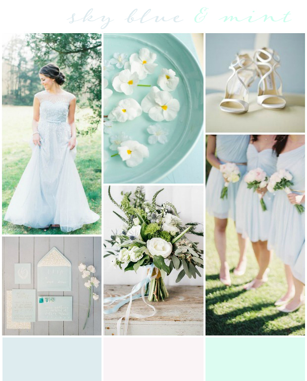 Skyblue and Mint Wedding Inspiration Want that Wedding