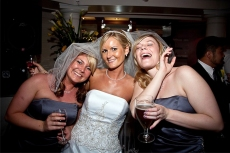 Harris Photography Kent Manor bride and maids and drink