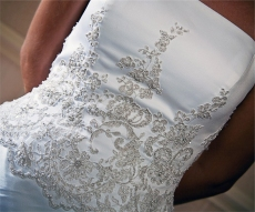 Harris Photography Kent Manor dress detail