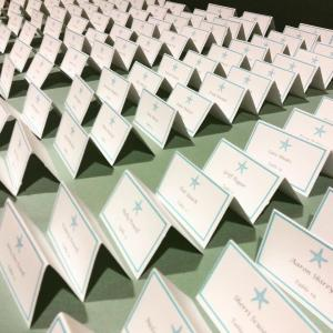 Heritage Shores Starfish table seating cards