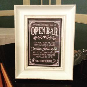 Heritage Shores Summer drink sign