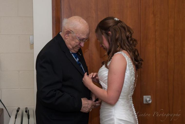 Linton Millstad Center Wedding bride grandfather