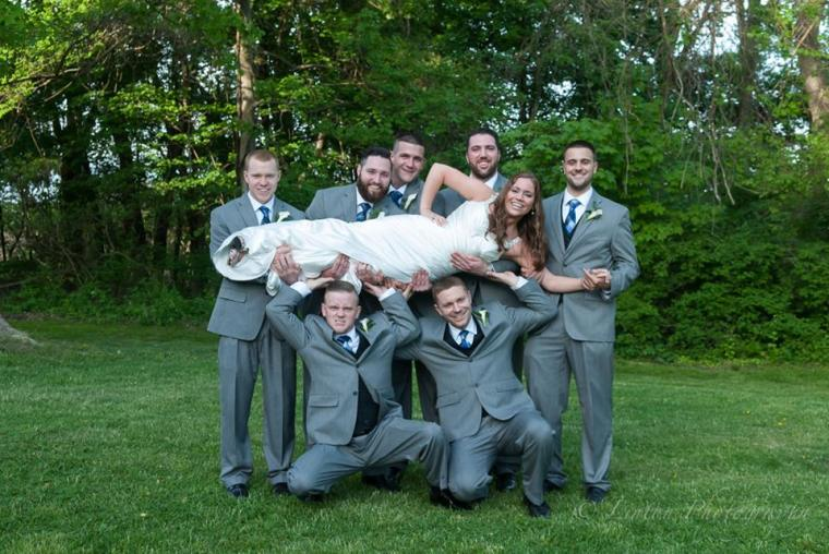 Linton Millstad Center Wedding bride guys