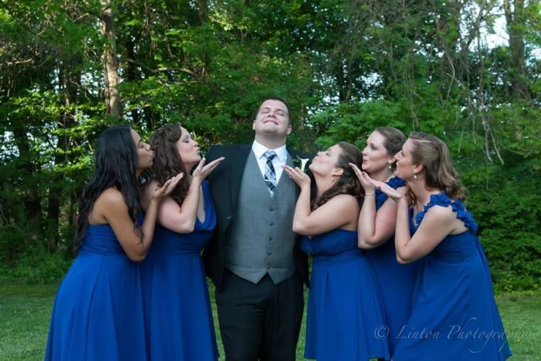 Linton Millstad Center Wedding groom maids