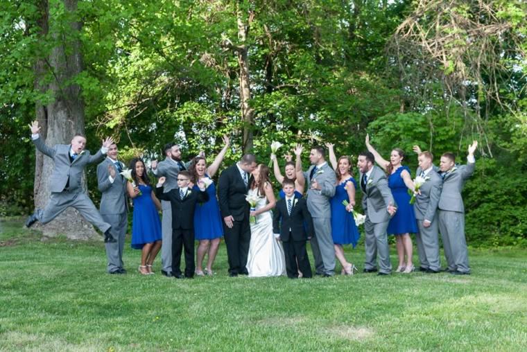 Linton Millstad Center wedding party