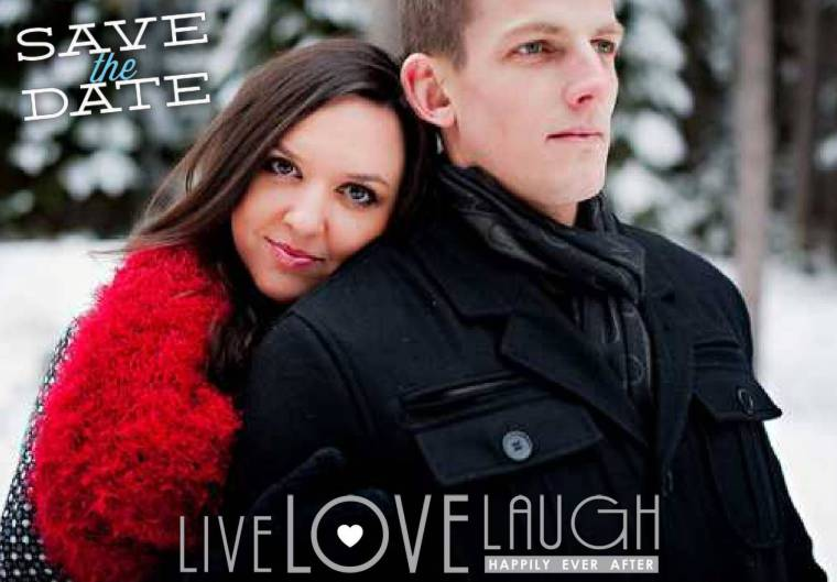 pixingo wedding save the date live love laugh card