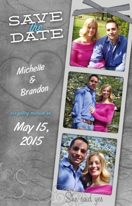pixingo wedding save the date michelle and brandon sample