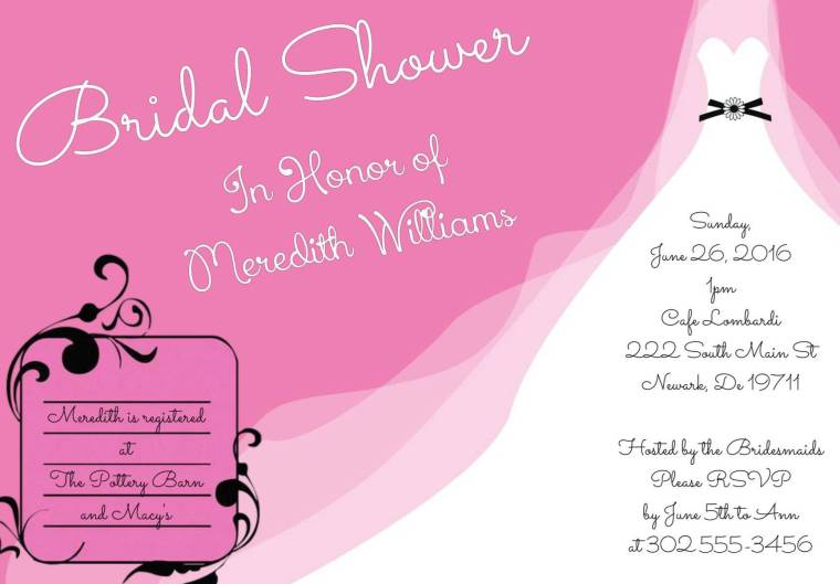 pixingo wedding shower invitation