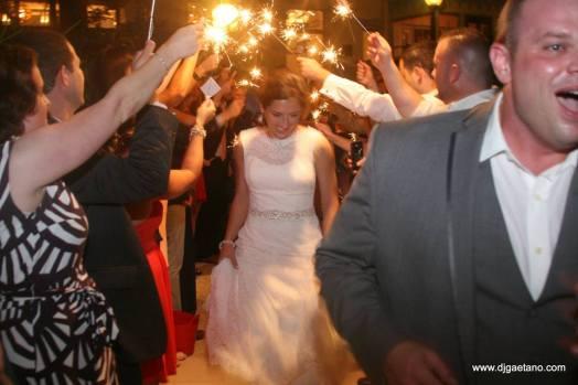 DJ GAetano bride sparklers