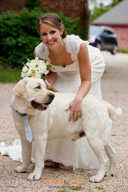 Great Oak Manor blue Bride and dog