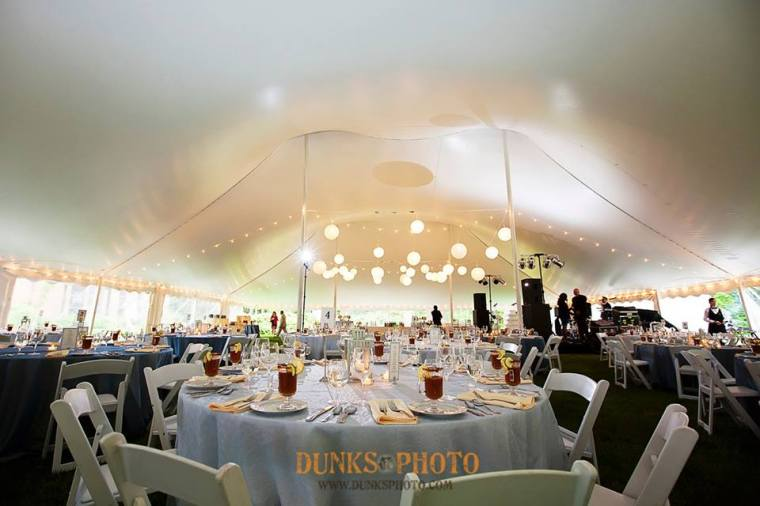 Great Oak Manor blue under the tent reception