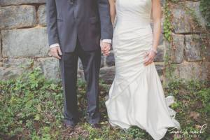 Hagley wedding fairytale dress and suit stone wall