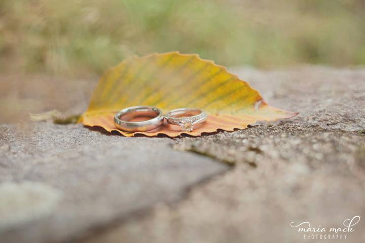 Hagley wedding fairytale leaf and rings