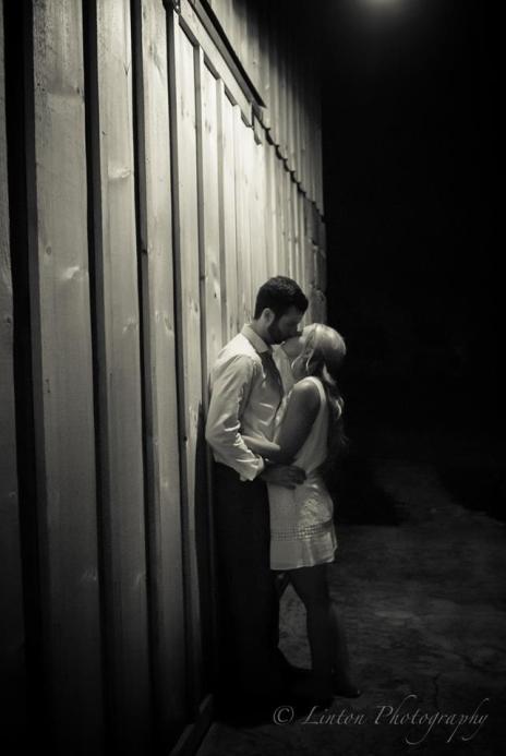 Linton vineyard kiss after the wedding