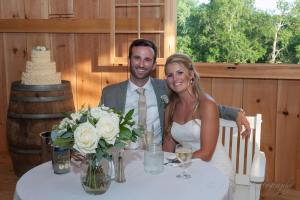 Linton Vineyard wedding bride groom sweetheart table