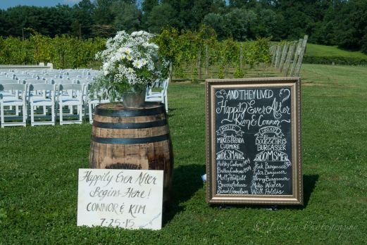 Linton Vineyard wedding signs