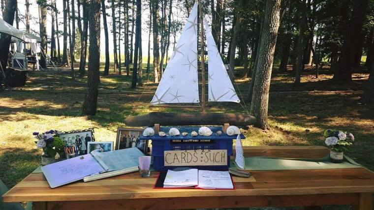 Dover Rent All Moonrise Kingdom wedding card and guest table