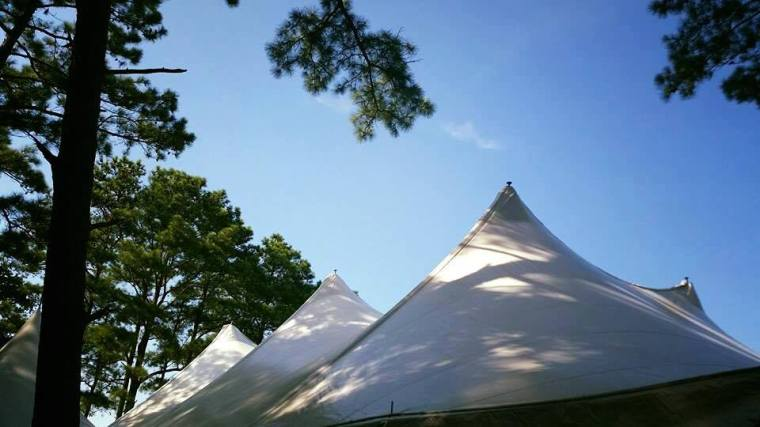 Dover Rent All Moonrise Kingdom wedding top of tents