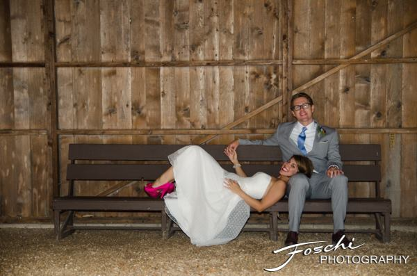 Foschi summer field wedding bench